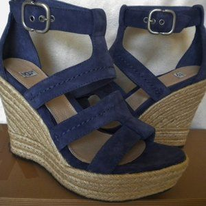 "UGG Australia LAURI 4.5"" Wedge heels Dark Blue 7"